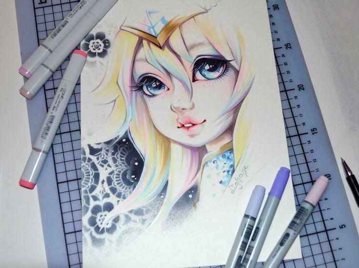 Elementalist Lux by Lighane.deviantart.com on @DeviantArt
