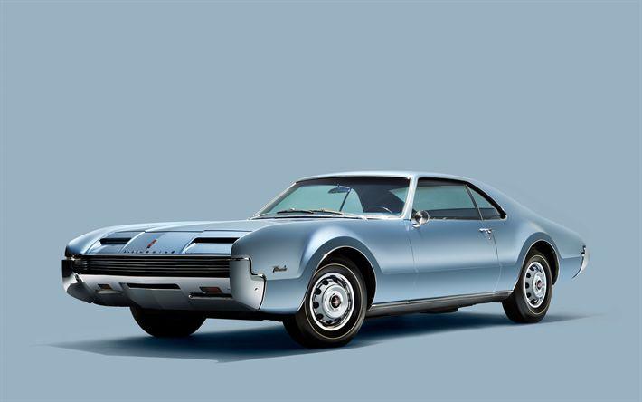 Herunterladen hintergrundbild oldsmobile toronado, 4k, 1966 autos, retro-autos, oldtimer, oldsmobile