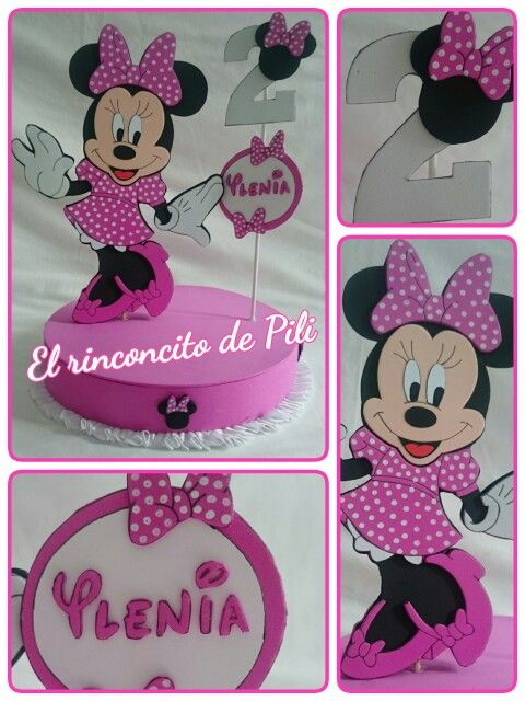 Centro de mesa Minnie Mouse #cumpleaños #fiestaminnie