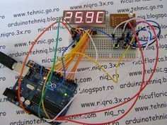 I designed a thermostat with few components using an Arduino board. I use LM35DZ for temperture sensor, KW4-563ASA display (4 di...