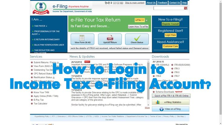 How to Login to Assessee Account in Income Tax e-Filing website?  ---------------- After we have Registered account in www.incometaxindiaefiling.gov.in website we can login to our Account using the PAN Number, Date of Birth and Password.  To start login to an Assessee account in Income e-Filing Account  1. Open www.incometaxindiaefiling.gov.in website from your Internet Browser. 2. Click on Login Here button. 3. Type the PAN Number of the Assessee in the User ID field. ........