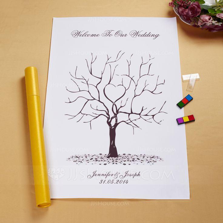 """""""Notre arbre de mariage"""" empreinte digitale Firma Framed Canvas (101058557)…"""
