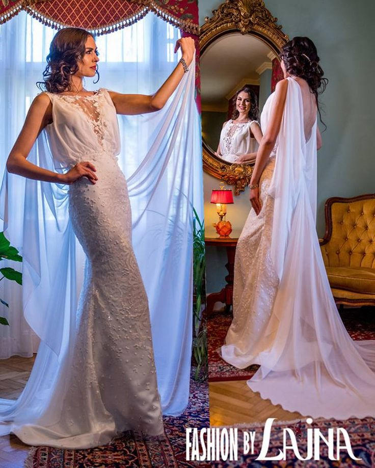 Aster is a statement dress with a silhouette fit for a goddess. ✓ Fabric: Lace, Veil ✓ Color: Ivory