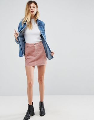 ASOS | ASOS Cord Pelmet Skirt in Pale Pink