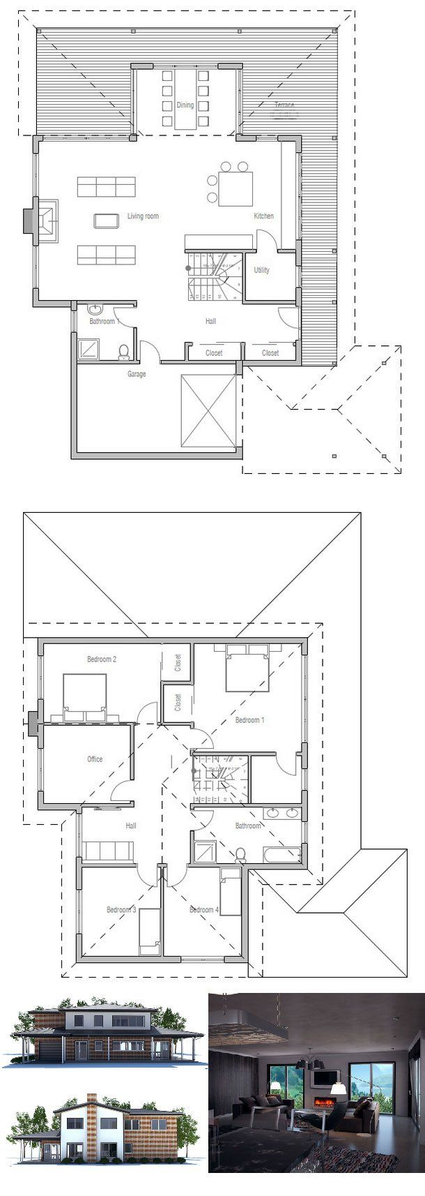 Modern Kitchen Floor Plan
