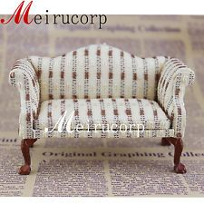 Fine 1/12 scale dollhouse miniature furniture lovely handmade cloth art couch