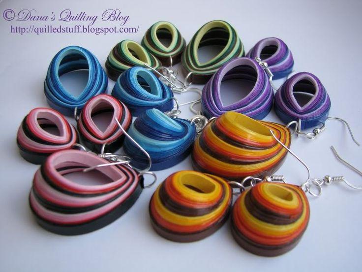 Dana's Quilling Blog: Cercei Quilling in culori noi!!!