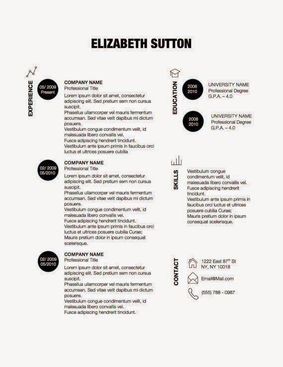 27 contoh resume terbaik lobak hangus simple resume templatecreative