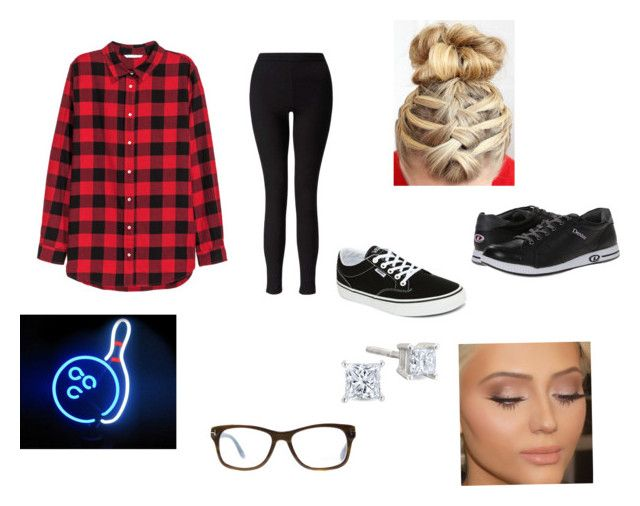 """Bowling outfit"" by sfeeley ❤ liked on Polyvore featuring H&M, Miss Selfridge, Vans, Tom Ford and Dexter Bowling"