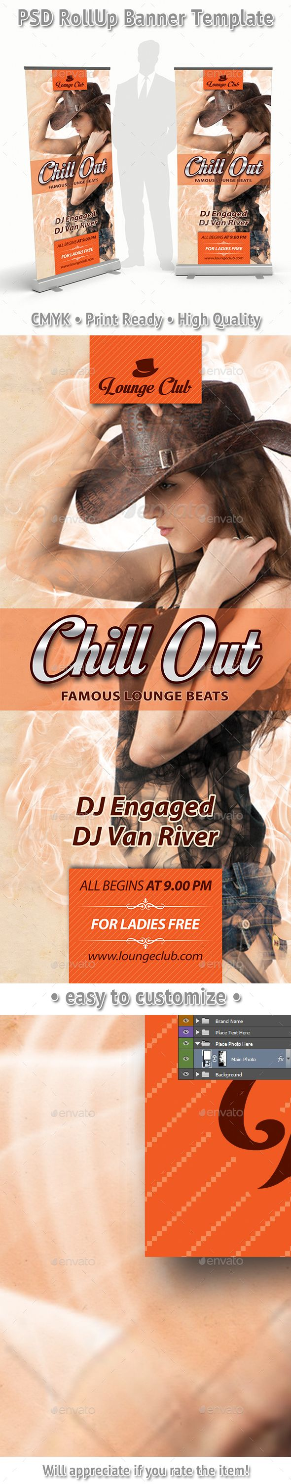 Chill Out Music Beats Rollup Banner 77