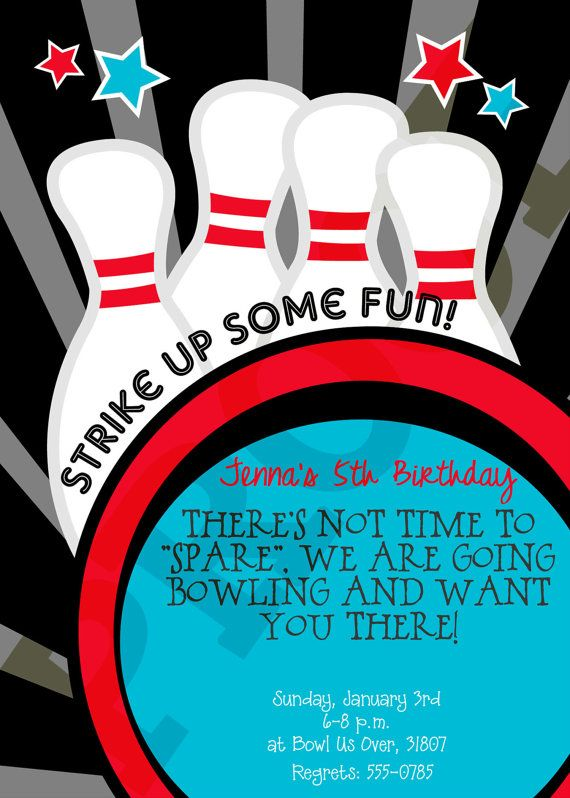 99 best Bowling Pin-terests images on Pinterest Bowling ball - bowling invitation