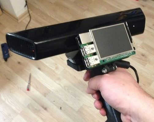 Make a 3D scanner with Raspberry Pi and Kinect http://www.mariolukas.de/2015/04/proof-of-concept-3d-scanner-with-kinect-and-raspberry-pi2