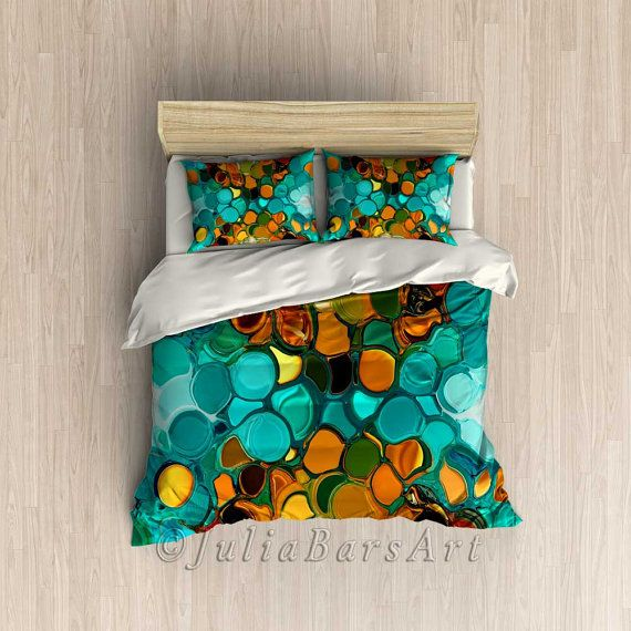 Teal Duvet Cover Teal and Orange Duvet Teal Comforter Cover