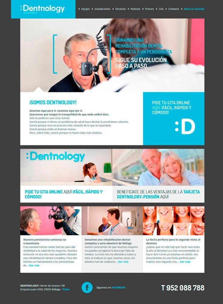 Trabajo que hemos desarrrollado en Factor ñ para la web de Dentnology, una  clínica dental con una sensibilidad especial en la cercanía y el trato humano.
