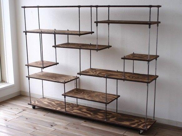 wood iron shelf 970*1200*225|棚・シェルフ・ラック|ikoku|ハンドメイド通販・販売のCreema