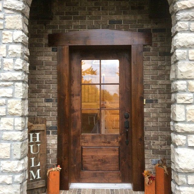 Farmhouse Door Custom Handmade Rustic Farm Style Home Decor Fixer Upper Mid Century Modern Door For Your House In 2020 Rustic Exterior Doors Craftsman Exterior Door Rustic Doors