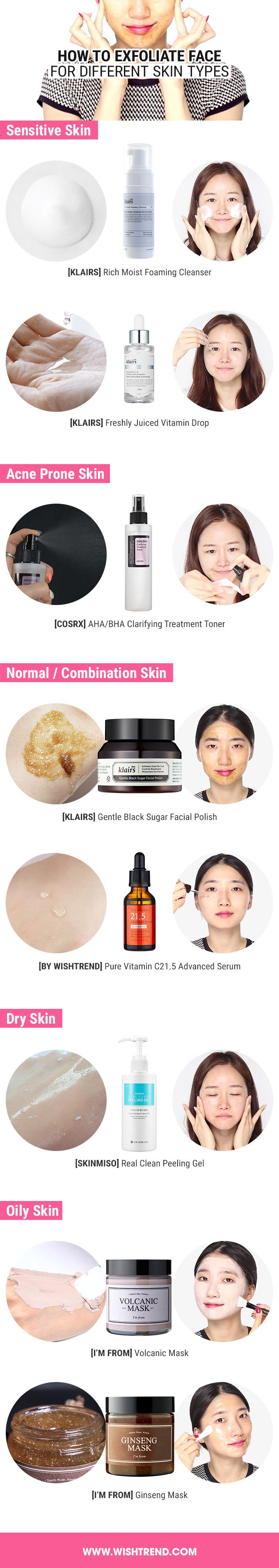 How To Exfoliate Face For Different Skin Types