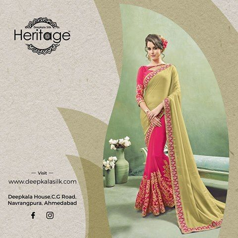 Get ready for the festive season with exclusive collection of ethnic wear only at Deppkala Silk Heritage https://www.deepkalasilk.com/beige-and-pink-georgette-saree.html #Cotton #Beauty #boldness #deepkala #silk #heritage #deepkalasilkheritage #TraditionalWear #BeSpoke #SalwarSuits #Lehenga #Saree #multicolored