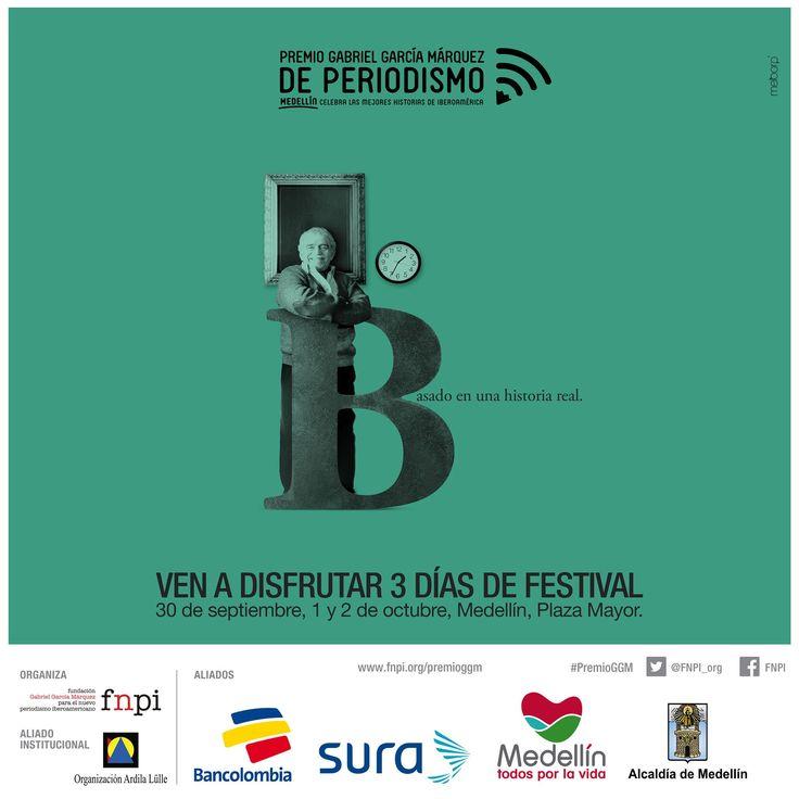 Así comienza el Premio Gabriel García Márquez de Periodismo #PremioGGM: http://www.fnpi.org/premioggm/ Te esperamos en Plaza Mayor Medellín