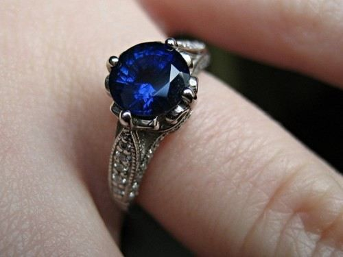 Giant saphire in a beautiful vintage settingSapphire Engagement Rings, Brilliant Earth, Sapphire Rings, Wedding Ring, Dreams Engagement Rings, Deep Blue, Brilliantearth, My Style, Vintage Style