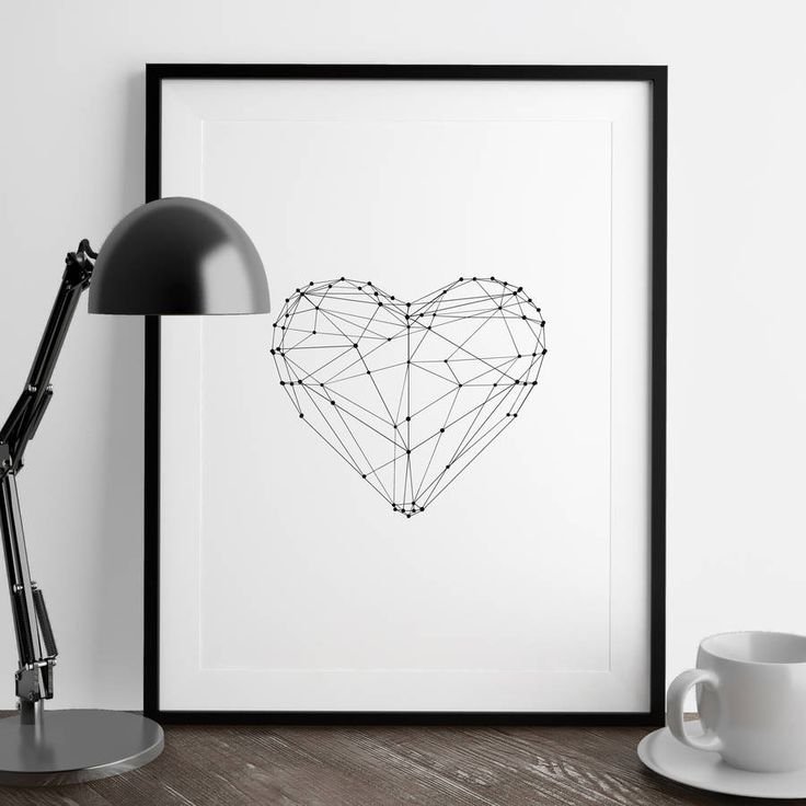 Polygon Love Heart http://www.notonthehighstreet.com/themotivatedtype/product/love-heart-illustrated-polygon-art-print Limited edition art print, order now!