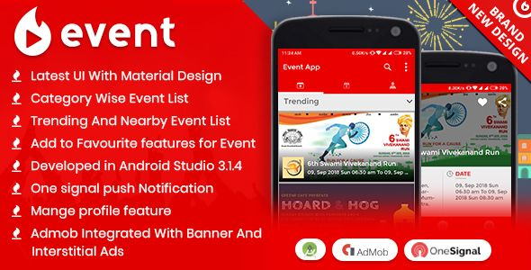 Event App with Material Design Nulled | Nulled Wordpress Themes