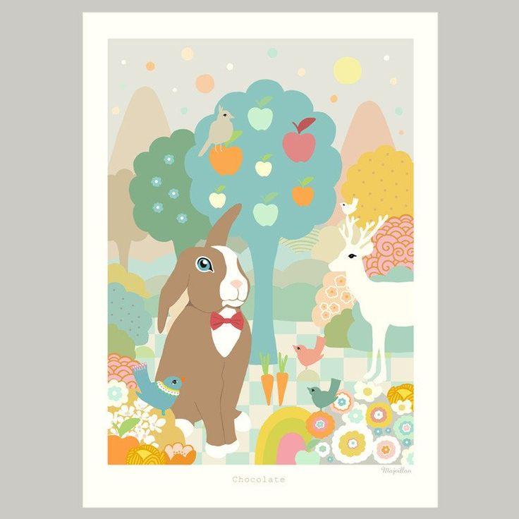 Majvillan ~ Chocolate poster 50x70 cm - SovrumsShoppen.se