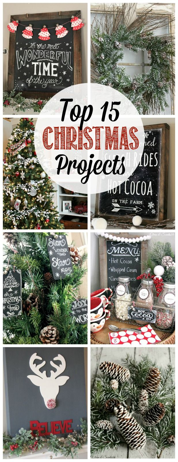 Great collection of Christmas projects - Christmas crafts, fun food recipes, and holiday home decor ideas.: