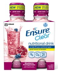 "Abbott Nutrition Ensure Clear™ ""suitable for lactose intolerance"" claim, no other FODMAP ingredients."