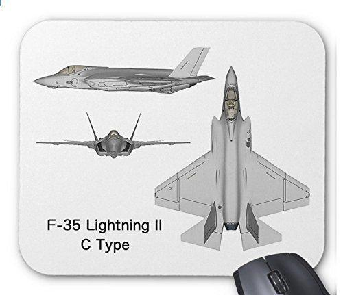 ステルス戦闘機 F-35の三面図のマウスパッド:フォトパッド(世界の戦闘機シリーズ) (C)