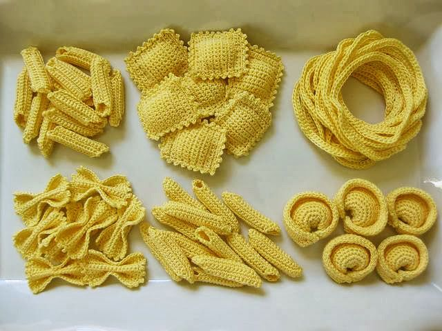 Pasta Party - crochet food pattern - NL Hood
