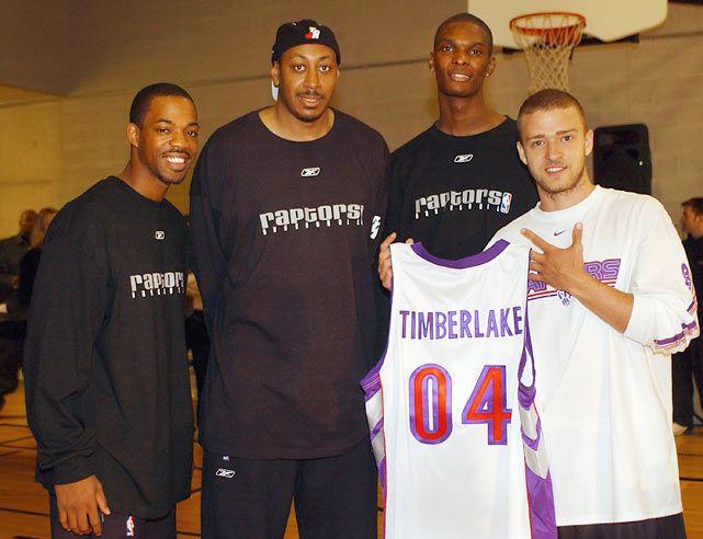 Rafer Alston, Donyell Marshall, Chris Bosh & Justin Timberlake