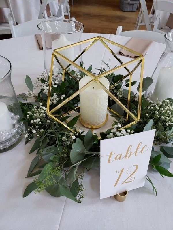 20 Modern Geometric Wedding Centerpieces – #Center…