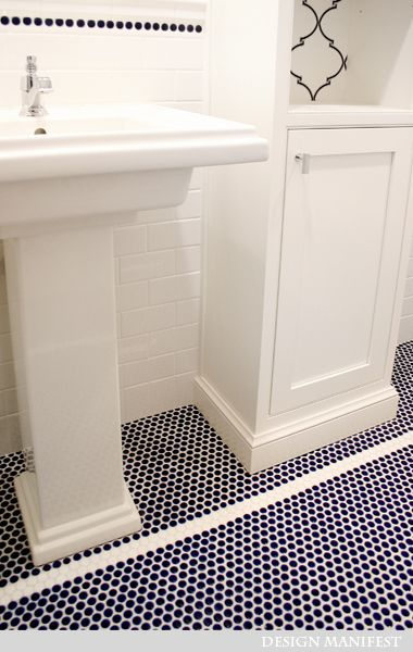 15 Best Ideas About Penny Tile Floors On Vintage Bathroom Floor And Classic Small Bathrooms