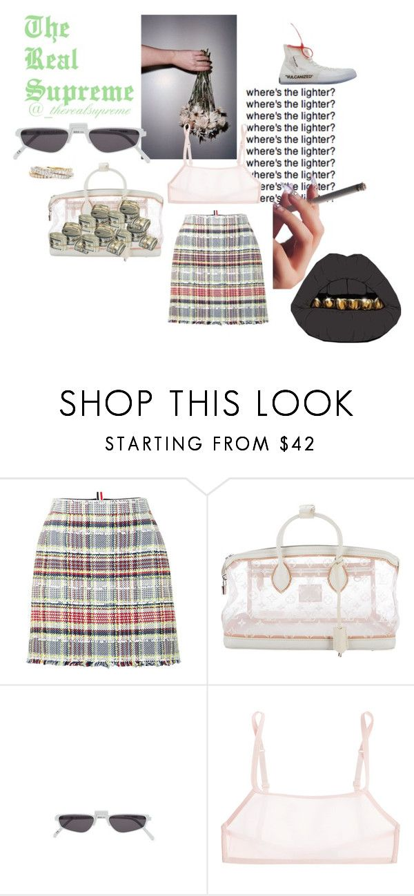 """GEMMA"" by supremestyles ❤ liked on Polyvore featuring Thom Browne, Louis Vuitton, Andy Wolf, Calvin Klein Underwear and Maria Canale"