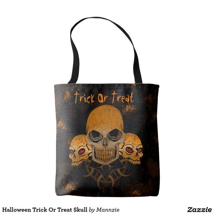 Halloween Trick Or Treat Skull Tote Bag