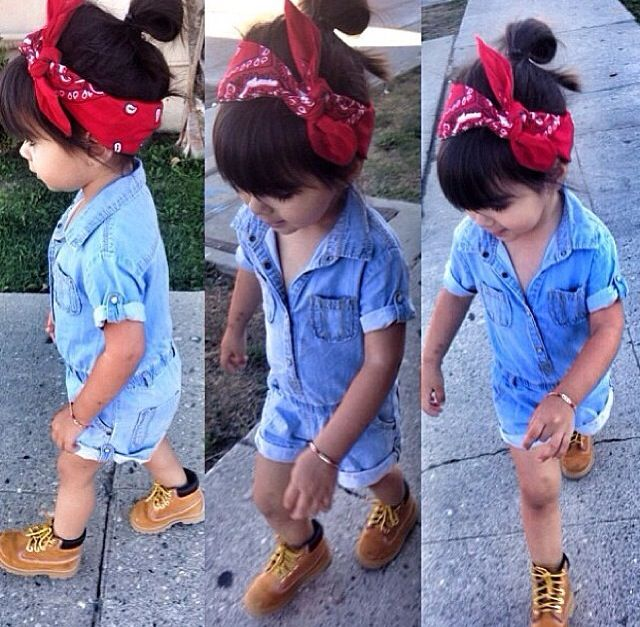 Cutest outfit eeeevverrrrr! I want baby timbs for my daughter so badly!