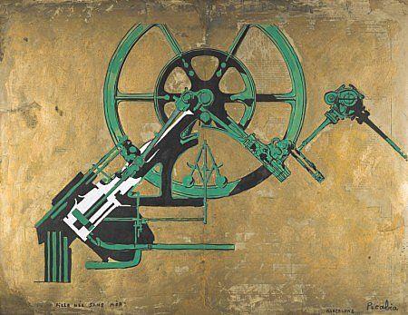 Picabia, Francis, Fille née sans mère, 1917 > corps mécanique > rapproche de Duchamps