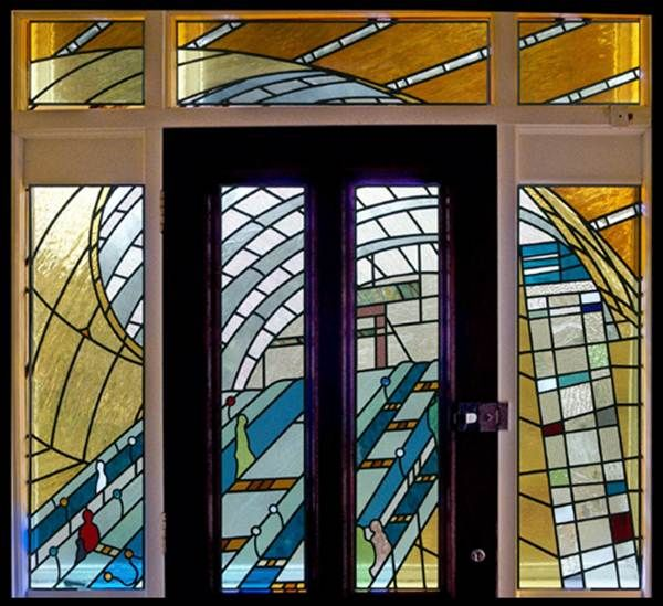 Canary Wharf Tube Station Apollo Stained Glass Stained Glass Modern Stained Glass Stained Glass Panels