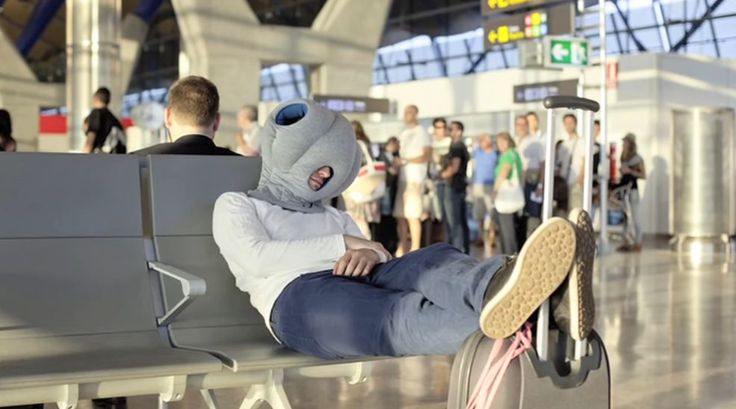 The Ostrich Pillow is specially designed to make sleeping in public a million times easier.