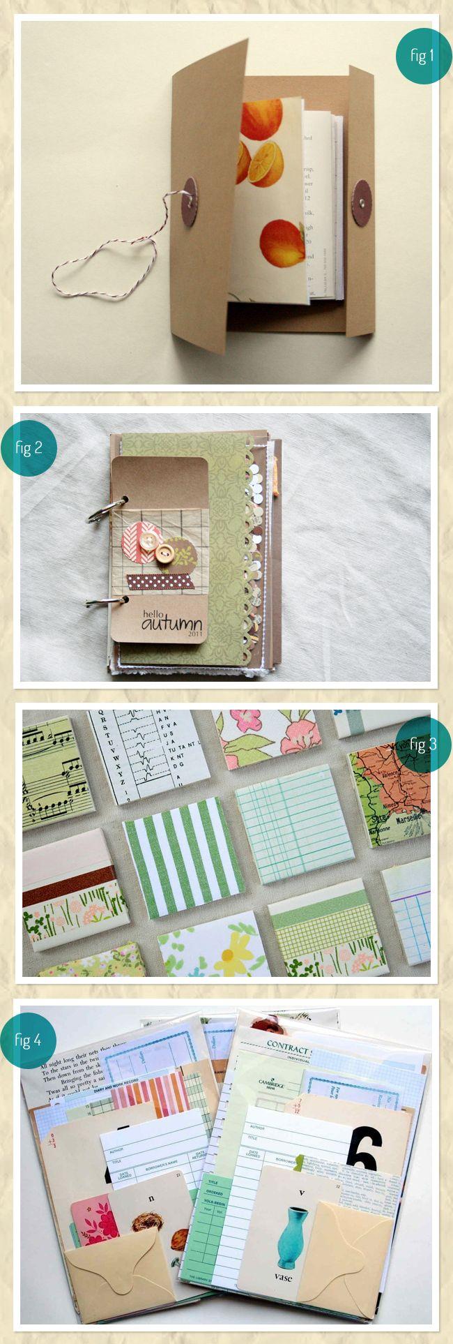 Different paper crafts.: Minis Books, Crafts Ideas, Creative Ideas, Minis Album, Art Journals, Scrap Books, Journals Ideas, Scrapbook, Paper Crafts