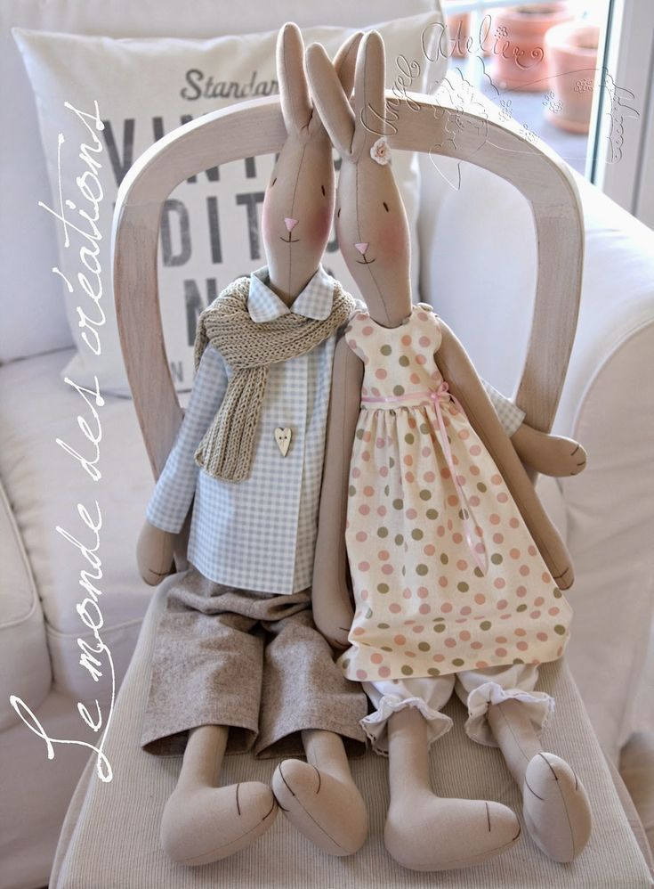 I love these dolls from Le monde des CRÉATIONS