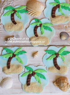 Le Delizie di Ve: PALM COOKIES AND CAKE TOPPER