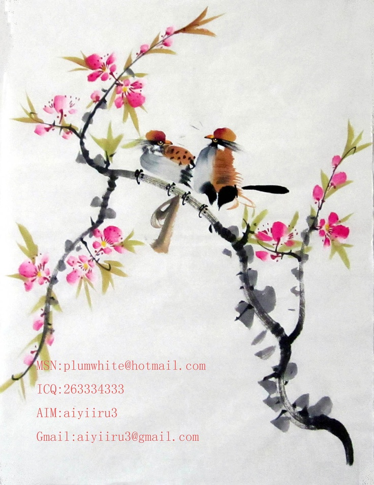 chinese painting. $40.00, via Etsy.
