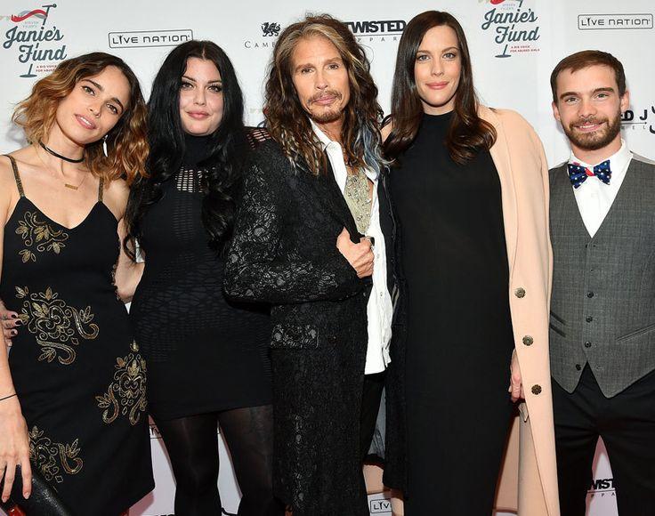 family portrait: (from left) Chelsea Tyler, Mia Tyler, Steven Tyler, Liv Tyler and Taj Tyler.