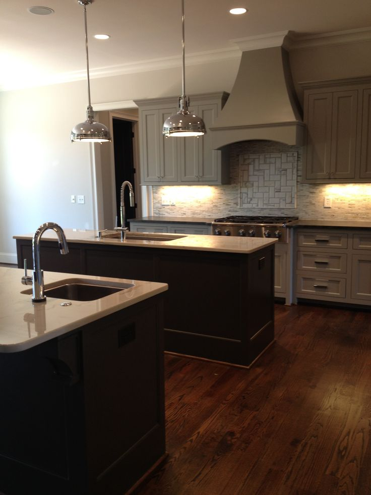 New Kitchen Dorian Gray Cabinets Urbane Bronze Islands