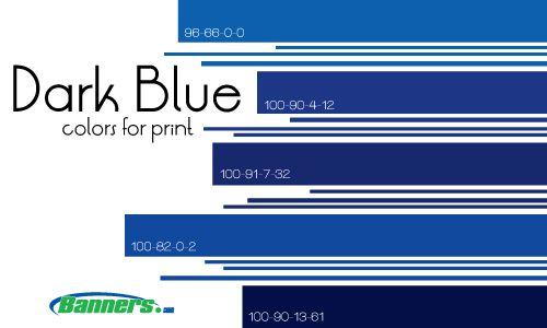 CMYK Dark Blue Colors for Printing Banners #cmyk #blue # ...