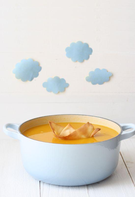 Crema fría de calabaza y curry