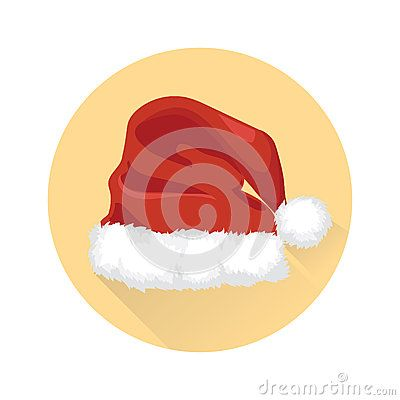 Santa claus christmas red hat in yellow background