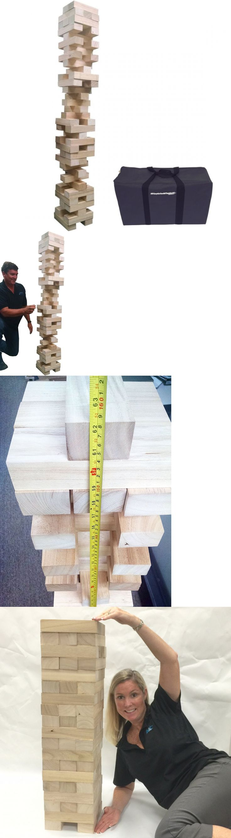 Wooden and Handcrafted Toys 1197: Easygo Giant Stack And Tumble Giant Wood Stacking And Tumble Tower Blocks Game Inclu -> BUY IT NOW ONLY: $86.73 on eBay!